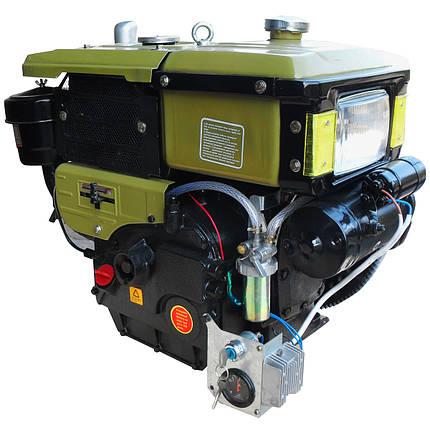Двигун дизельний Кентавр ДД195ВЭ (12 л. с., електростарт, водяне охолодження), фото 2