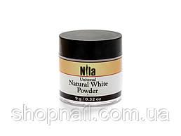 Nila Пудра акриловая белая натуральная Natural White Builder 9 г