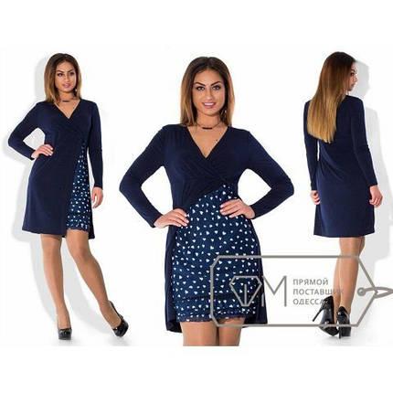 a57781e6a0d3865 Женское платье с имитацией двойки,ткань