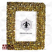 Фоторамка золотистая для фото 10х15 см