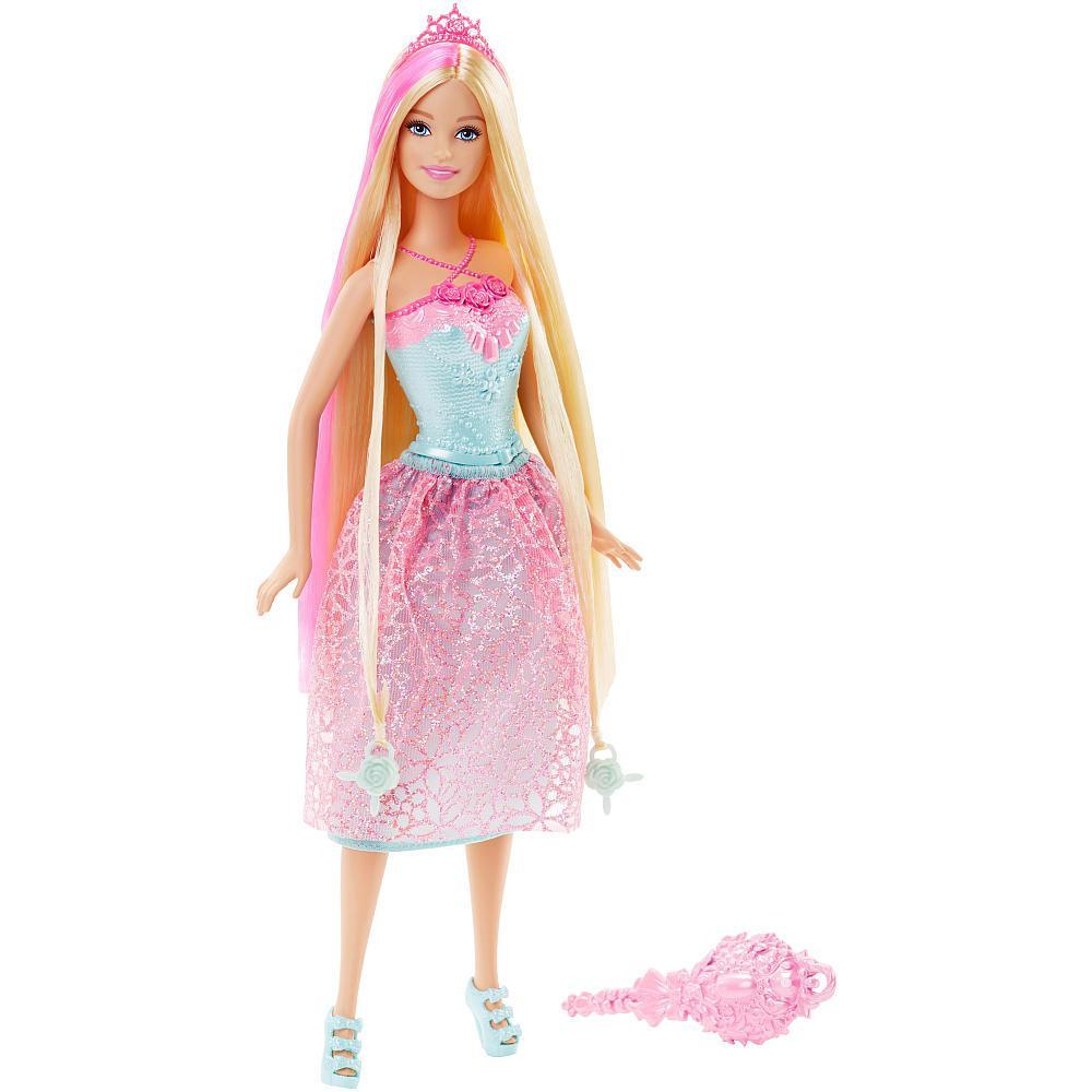 Кукла Барби - Королевские Волосы (Розовая). Barbie Endless Hair Kingdom Princess