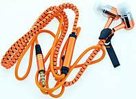 Наушники вакуумные на молнии с микрофоном ZIPPER S-10
