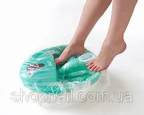 Чехол (пакет) полиэтиленовый на педикюрную ванночку с резинкой, прозрачный, 50шт