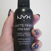Спрей для фиксации макияжа NYX Matte Finish Fini Mat Long Lasting