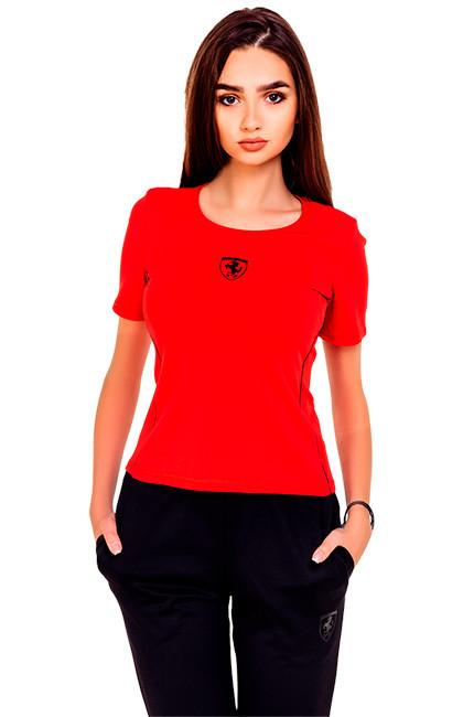 Футболка женская красного цвета SHIELD - 4look.com.ua в Одессе