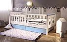 Кровать подростковая от 3 лет с бортиками Infiniti, фото 6