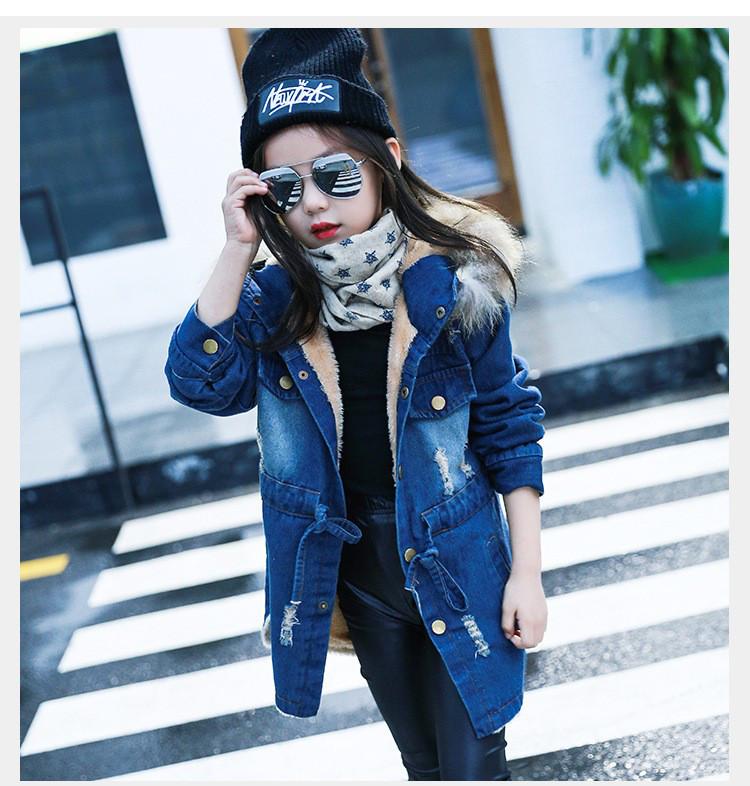 """Утепленная джинсовая куртка на девочку """"In Trend"""""""