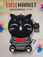 Объемный 3D силиконовый чехол для Meizu M5 Кошечка черная морячка