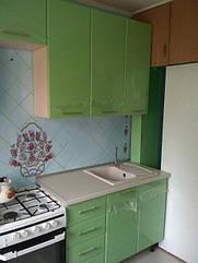 "кухня ""ХайТек"" - корпус дуб молочный, фасад оливковый перламутр"