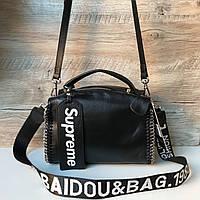 Кожаная сумка Supreme