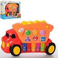 Музыкальная развивающая игрушка Пианино Знаний Машинка 135, 5 клавиш, 2 режима, музыка, свет, звуки животных