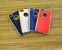 Силиконовый Чехол на Айфон, iPhone 7 7s 4D Metal 4 цвета