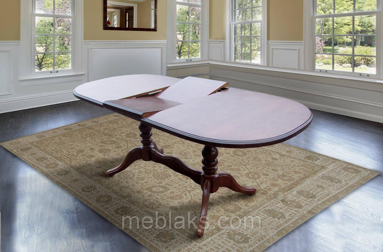 """Стол кухонный деревянный раскладной """"Даниэль"""" 148(+40)x88x78,5 см Fusion Furniture"""