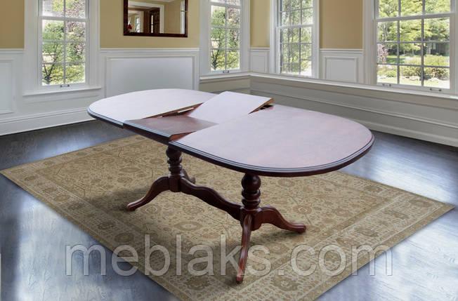 """Стол для гостинной деревянный раскладной """"Даниэль"""" 148(+40)x88x78,5 см Fusion Furniture, фото 2"""