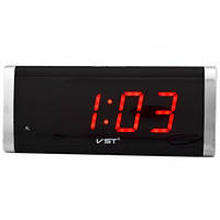 🔝 Электронные часы будильник, настольные, VST 730, с красной подсветкой | 🎁%🚚