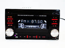 Магнитола автомобильная HS-MP2500 2Din USB Евроразъем MP3 FM пульт