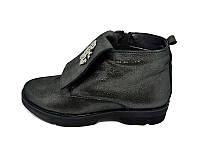 Женские кожаный демисезонные ботинки Polin 415 Anthracite Размер: 36 37 38 39 40