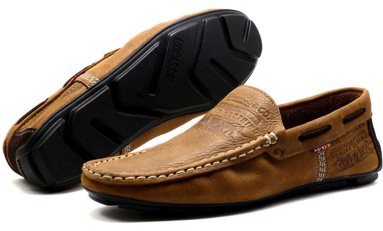 2773ac51fc57 Мужские мокасины Levis из коричневого цвета. Турция - Интернет-магазин