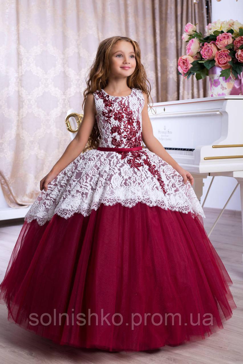 Нарядное бальное платье для девочки 9781 - Сонечко в Киеве 736419226969b