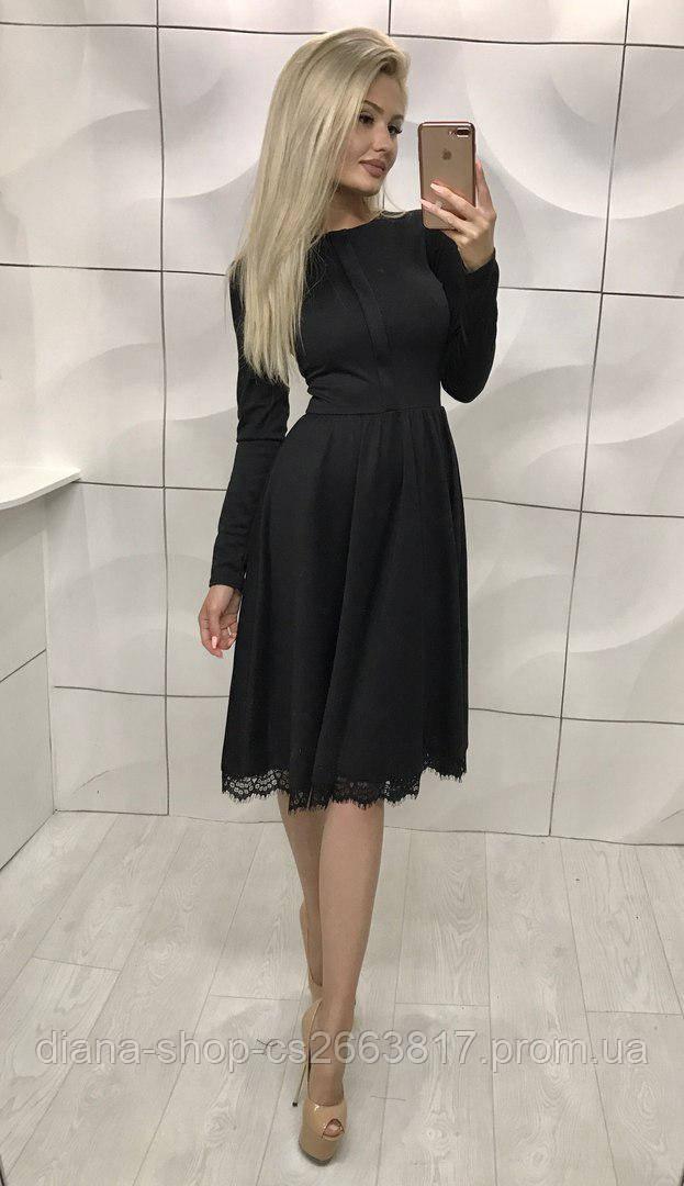 5dc7fb24d9d889b Женское трикотажное платье миди черного цвета: продажа, цена в ...