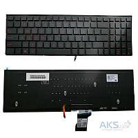 Клавиатура для ноутбука Asus (G501, N501) rus, black, без фрейма, подсветка клавиш