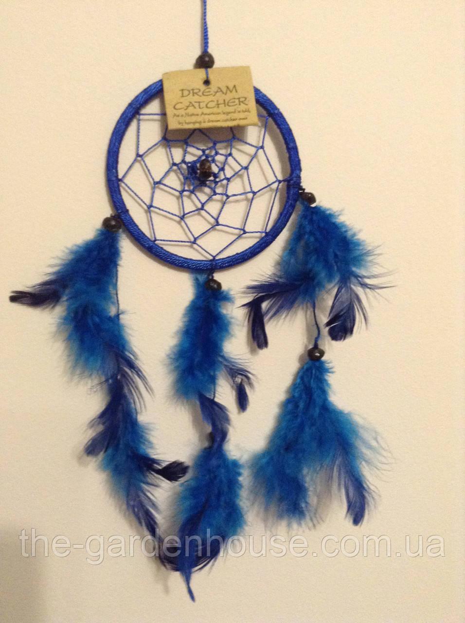 Ловец снов синий, d-6 см