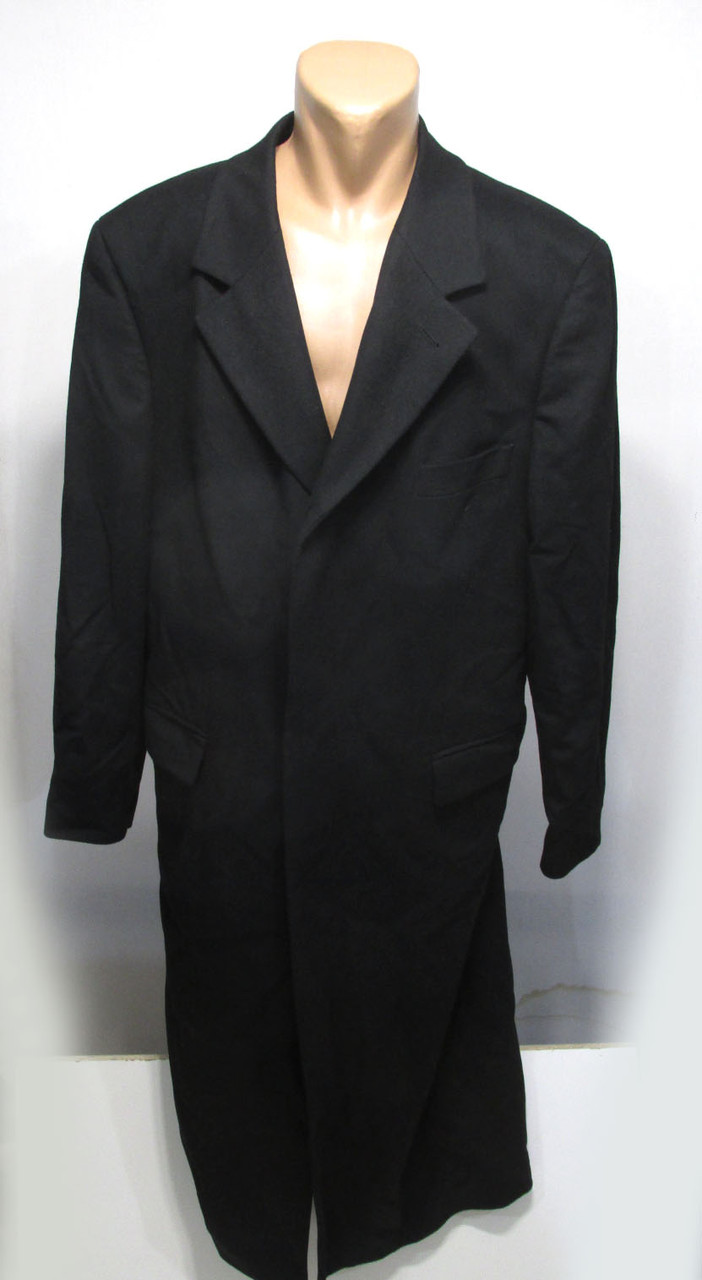 Пальто черное Tatari, ПОГ - 64 см (XL), Шерсть! Как Новое!