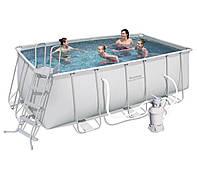 Прямоугольный каркасный бассейн Bestway 412х201х122 см (56241)