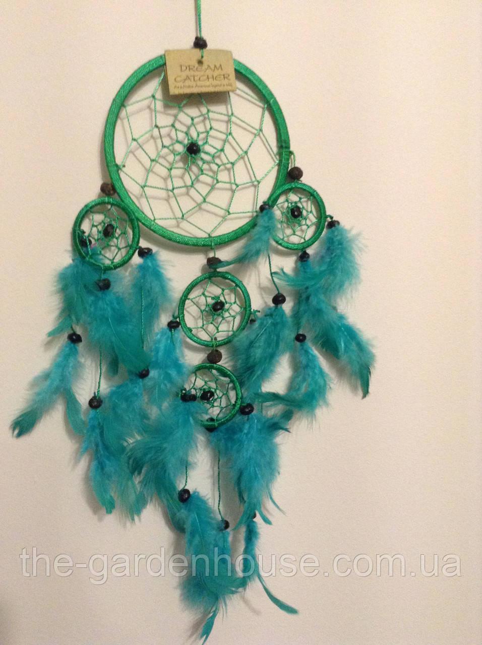 Ловец снов зеленый, d-12 см