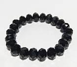 Браслет стильный Чешский Хрусталь, цвет черный, тм Satori \ Sb - 0046, фото 2