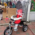 Детский трехколесный велосипед Crosser T 503 EVA серо-красный, фото 2