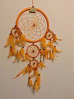 Ловець снів помаранчевий, d-22 см