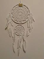 Ловець снів подвійний білий, d-23 см