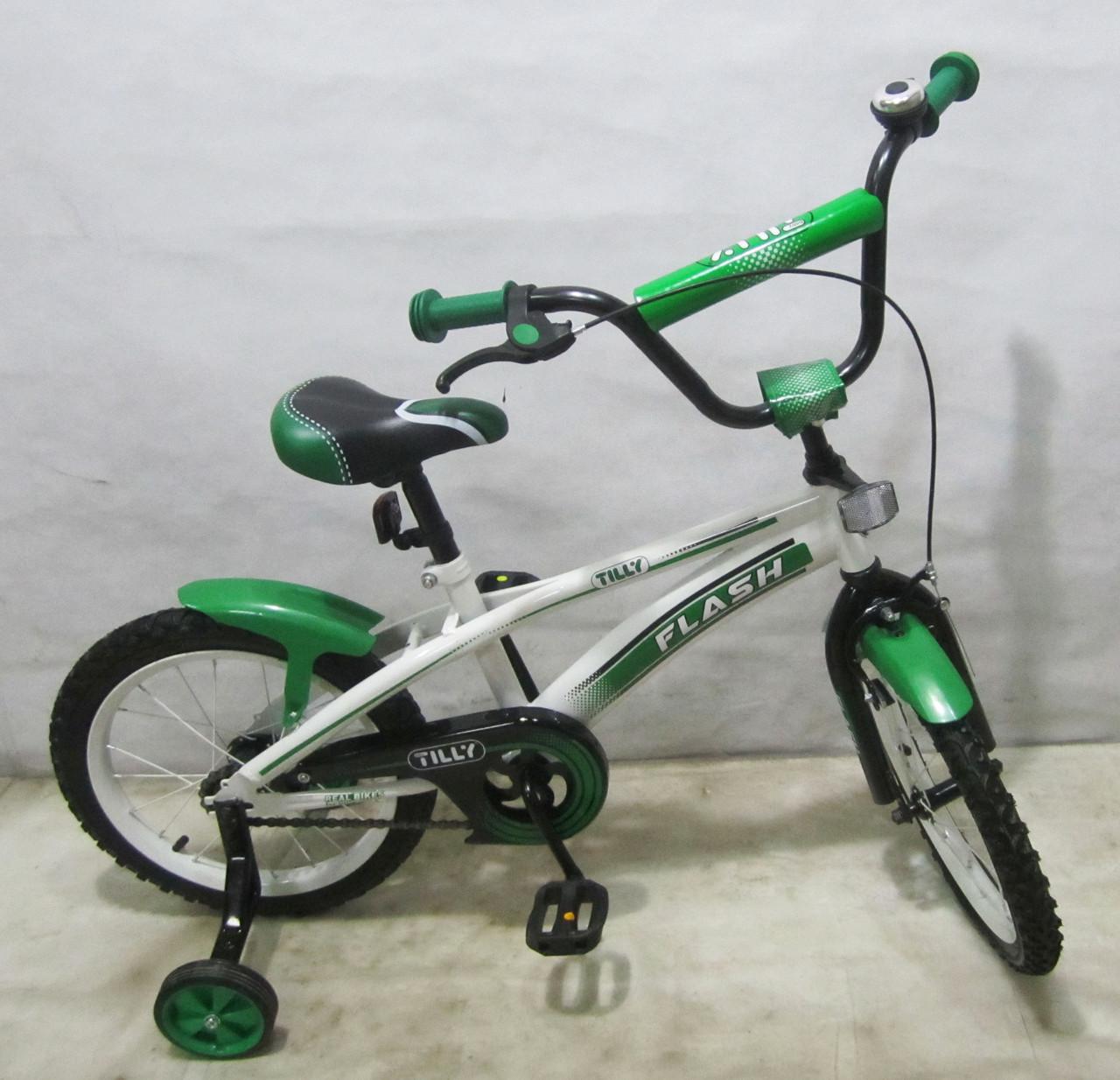 Велосипед двухколесный FLASH 16 T-21641 green