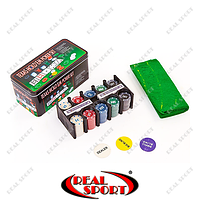 Покерный набор в металлической коробке IG-1104215 (200 фишек), фото 1