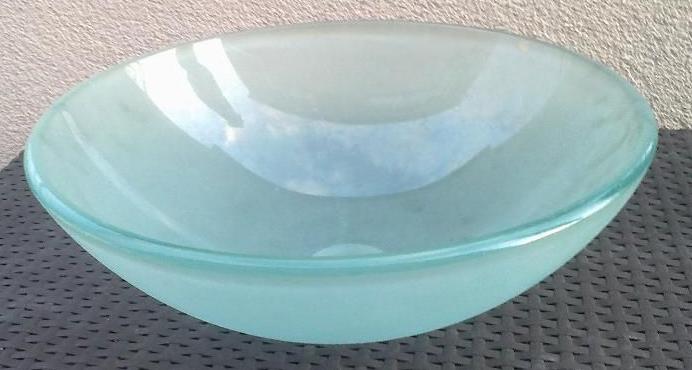 Умывальник накладной стеклянный круглый матовый