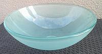 Умывальник накладной стеклянный круглый матовый, фото 1