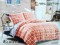 Комплект постельного белья ELWAY евро 5066 сатин
