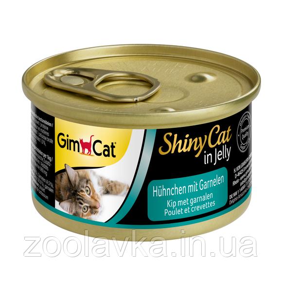 Консервы Gimpet ShinyCat Цыпленок с креветками