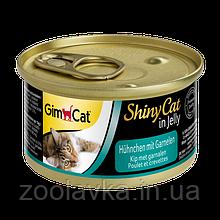 Консерви Gimpet ShinyCat Курча з креветками