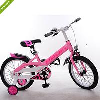 Велосипед двухколёсный детский 18 дюймов Profi Original boy W18115-3 розовый