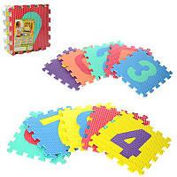 Коврик Мозаика M 2608 EVA,цифры,10дет(10мм,31,5-31,5см), игровой коврик