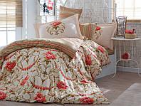 Семейный комплект постельного белья из поплина Hobby Ornella золотой