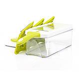 Терка-шинковка с контейнером Fissman 4 лезвия (Нерж. сталь, пластик), фото 3