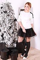 Нарядное молодежное платье Ирис белое