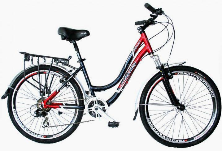 """Городской велосипед Ardis TOUR R28"""" 19"""" алюминиевый с багажником (Черно-красный)"""