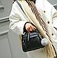 Сумка женская черная с брелком код 3-331-1, фото 2