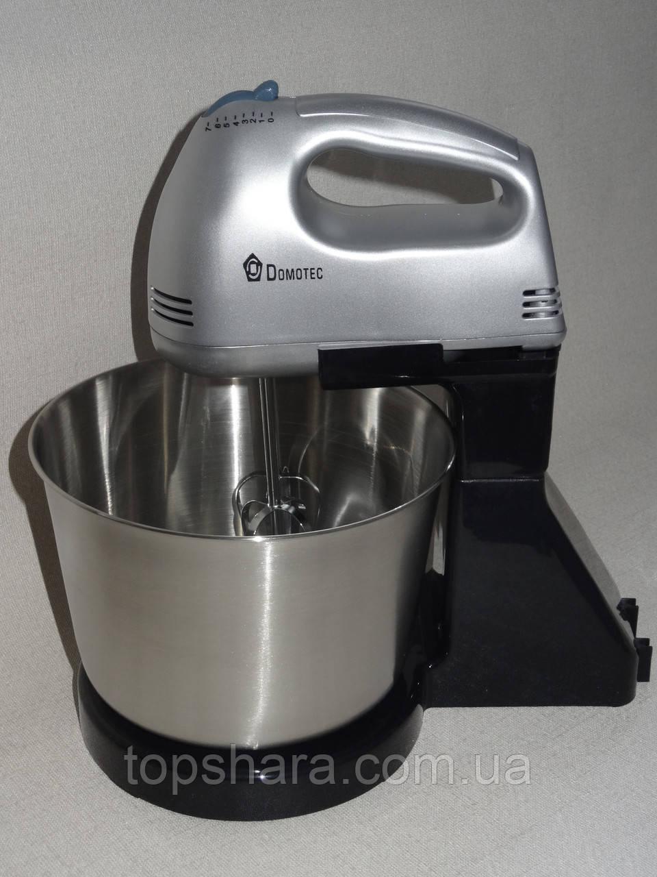 Миксер с чашей метал Domotec MS-1133, ручной миксер Silver