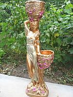 """Садово парковая скульптура  """"Таня"""" 95 см (бронза цветная) полистоун"""