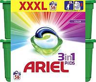 Капсули для прання кольорової білизни Ariel Color Pods 3 в 1 56 шт
